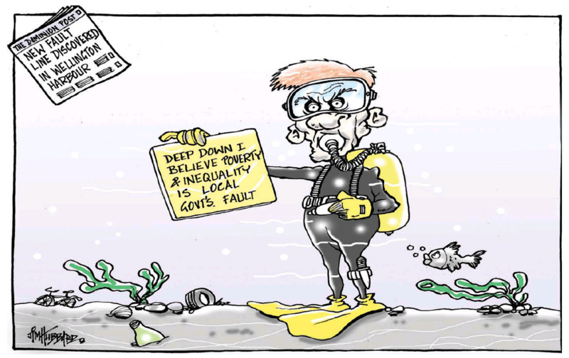 Hubbard - Dominion Post 9 October 2014 inequality Bill English National