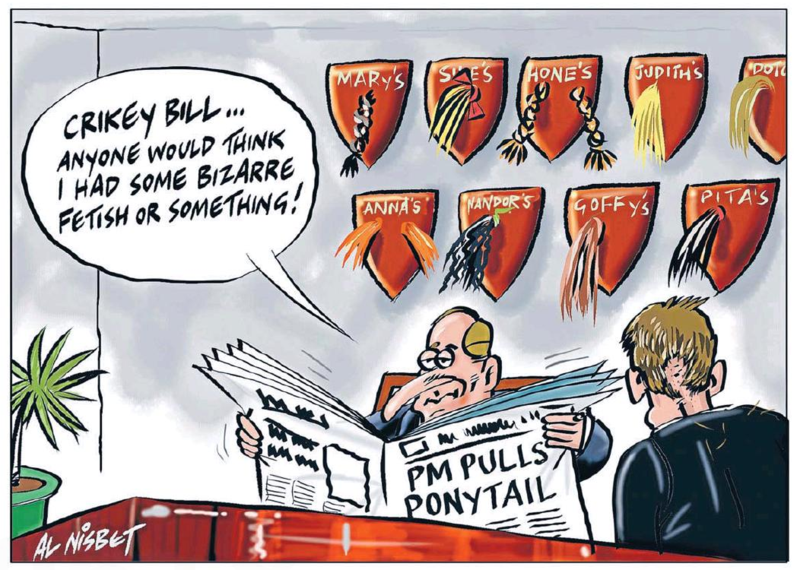 Nisbet - The Press 23 April 2015 #ponytailgate