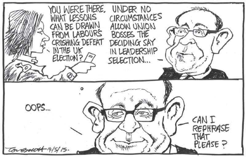 Scott - Dominion Post 14 May 2015 Little Labour unions