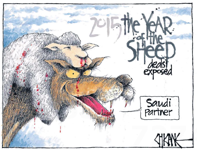 Chicane - Southland Times 3 June 2015 sheep saudi national