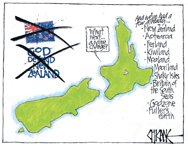 Chicane - Southland Times 30 July 2015 flag anthem