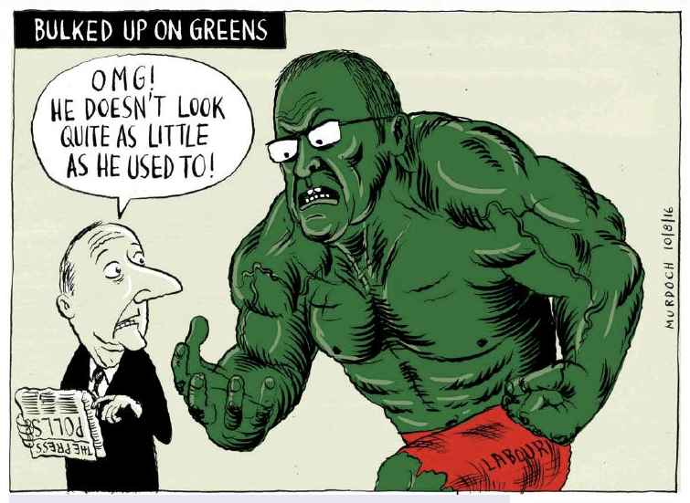 Murdoch - The Press 10 August 2016 Greens Labour