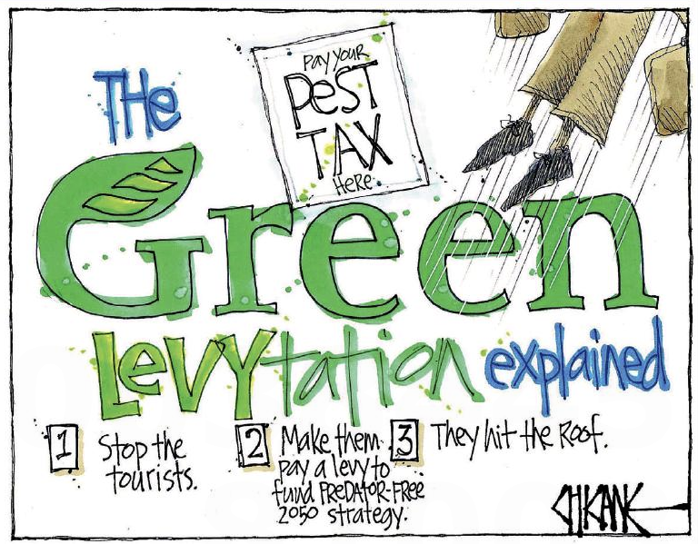 Chicane - Southland Times 12 August 2016 Greens levy pest tax environment