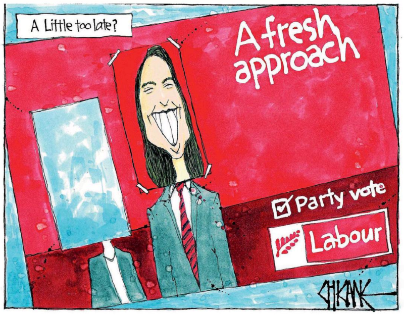 Chicane - Southland Times 2 August 2017 Labour Jacinda Ardern
