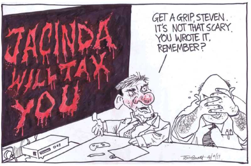 Scott - Dominion Post 14 September 2017 Jacinda Ardern Labour Joyce National English tax