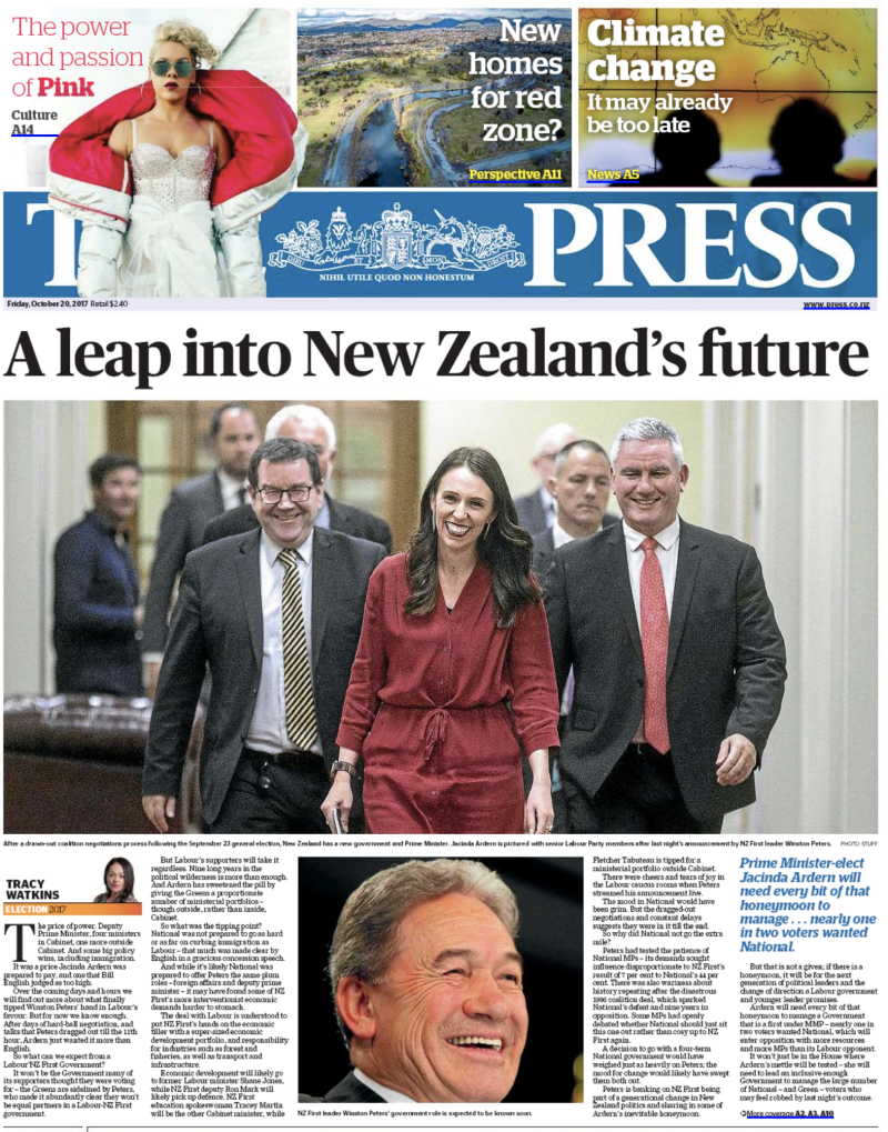 The Press 20 October 2017 election Labour