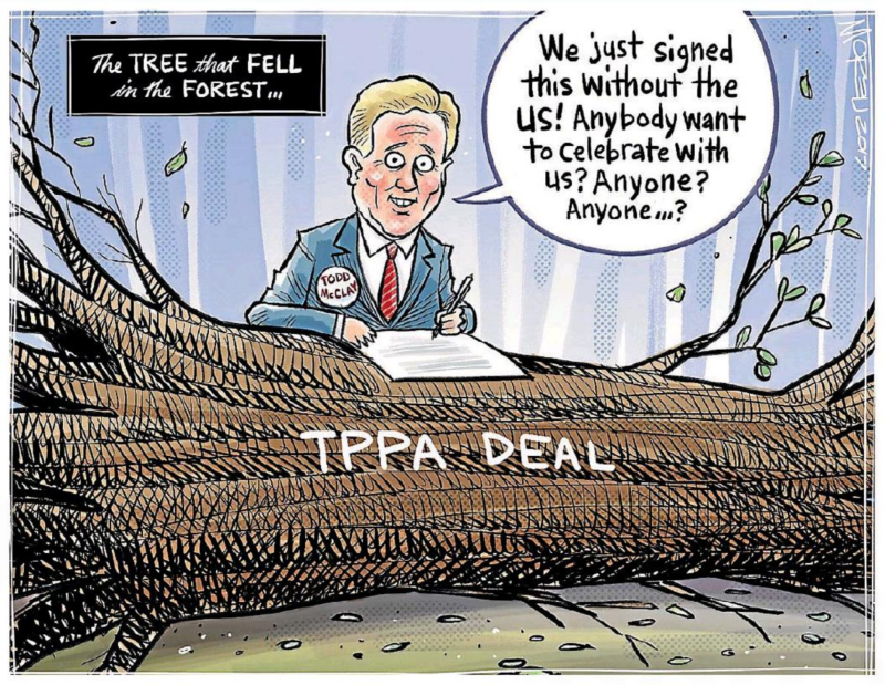 Moreu - Timaru Herald 15 May 2017 TPPA trade