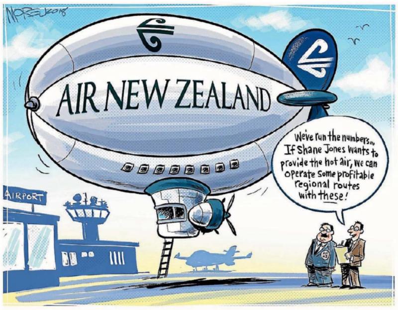 Moreu - Timaru Herald 22 March 2018 Air NZ Shane Jones
