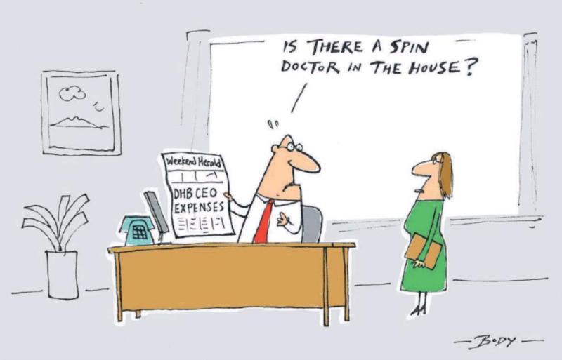 Body - NZ Herald 18 December 2017 health spin doctors