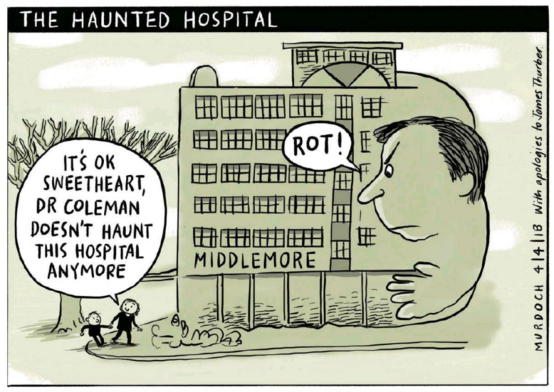 Murdoch - The Press 4 April 2018 health Coleman underfunding