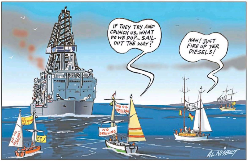 Al Nisbet - Sunday Star Times 24 November 2013 oil environment