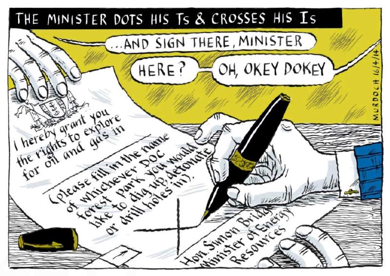 Murdoch - The Press 16 April 2014 Simon Bridges oil gas exploration