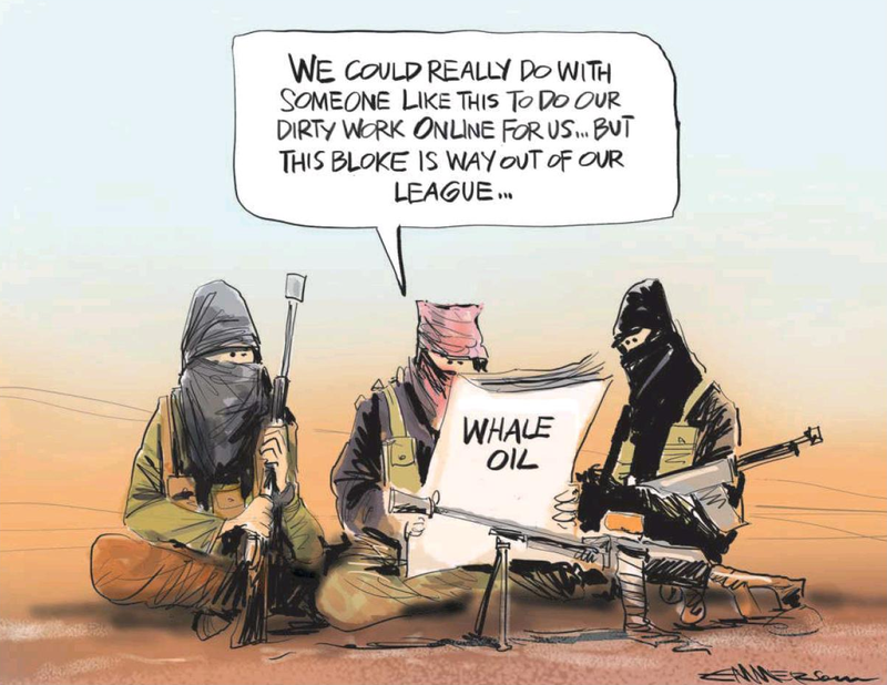Emmerson - NZ Herald 27 August 2014 Whale oil Cameron Slater Nicky Hager Dirty politics