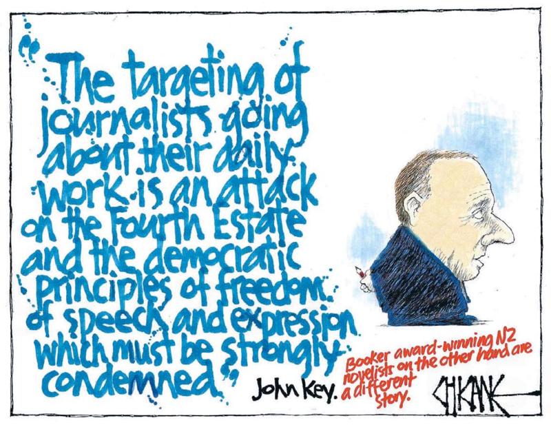 Chicane - Southland Times 30 January 2015 Catton John Key media