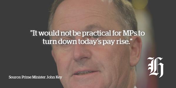 Herald 27 February 2015 MP pay Key