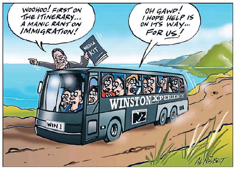 Nisbet - The Press 7 March 2015 Winston Peters NZ First