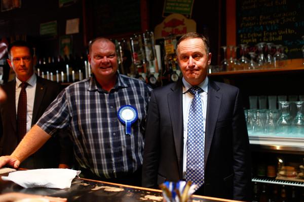John Key in Northland with Mark Osborne