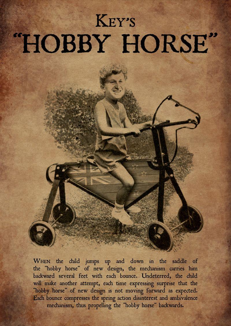 Neetflux hobby horse flag john key