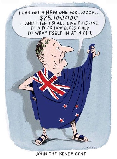Murdoch - The Press 1 November 2014 John Key flag