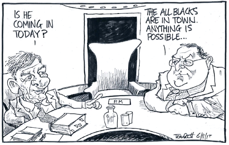 Scott - Dominion Post 6 November 2015 John Key rugby