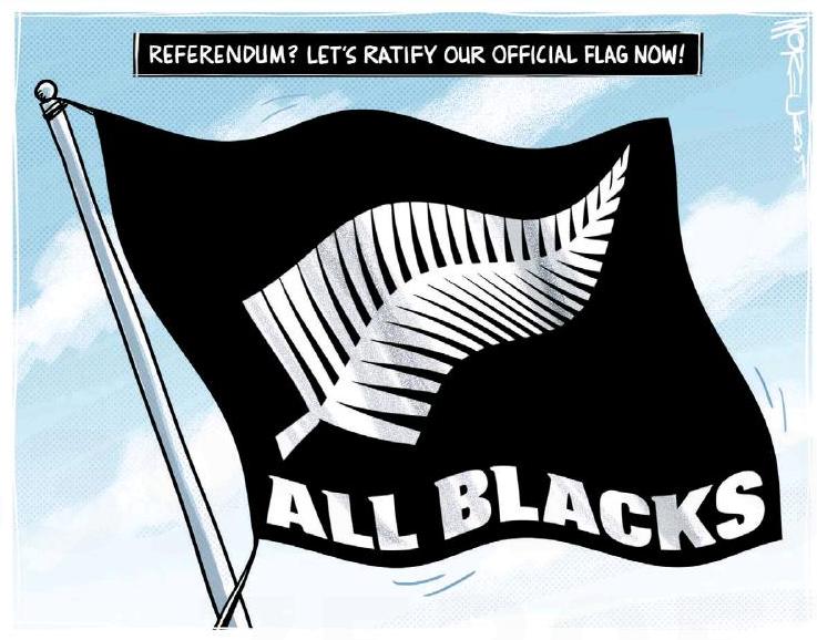 Moreu - Timaru Herald 2 November 2015 rugby flag