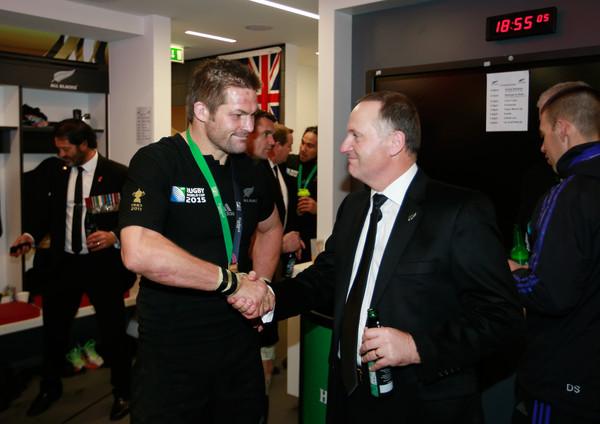 John Key Rugby Richie McCaw handshake