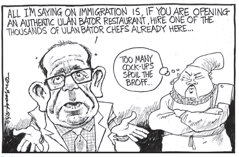 Scott - Dominion Post 18 March 2016 andrew little labour immigration race