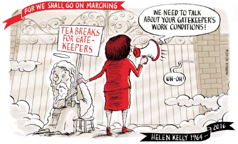 Murdoch - Sunday Star Times 16 October 2016 Helen Kelly