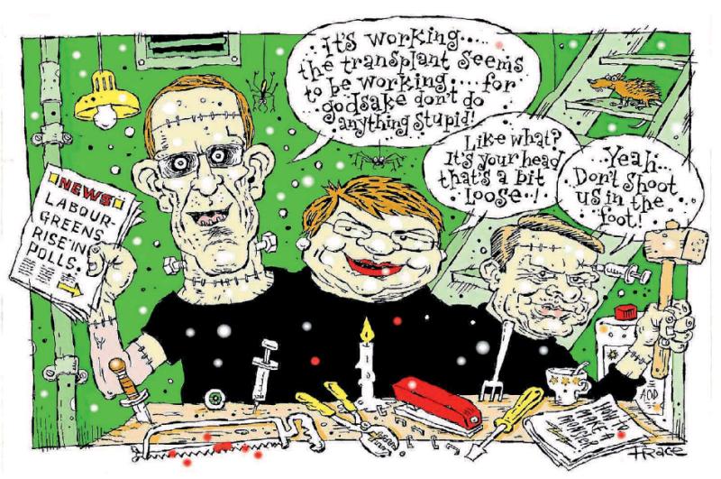 Hodgson - Dominion Post 15 August 2016 Little Labour Greens