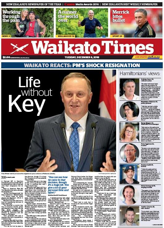 Waikato Times - 6 December 2016 John Key