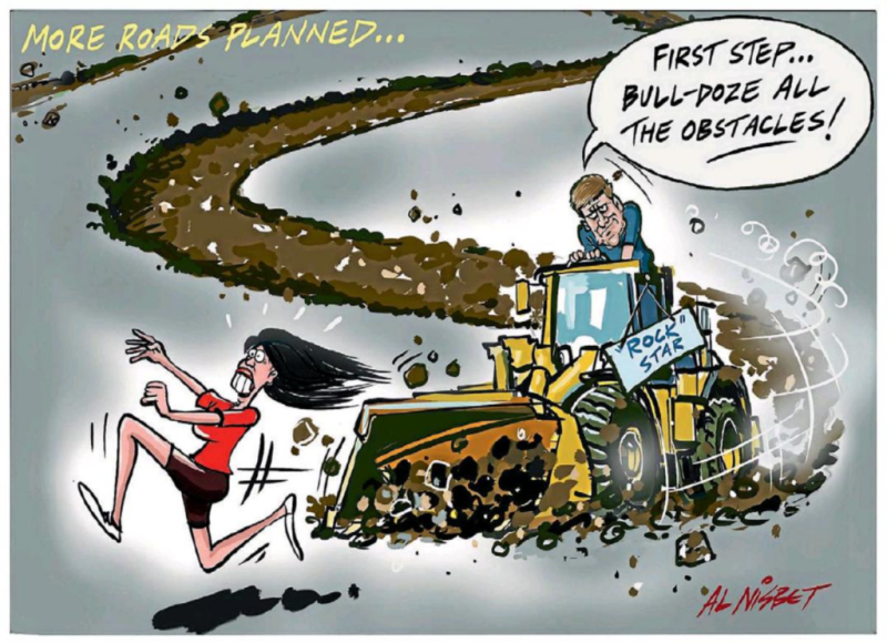 Nisbet - The Press 21 August 2017 English National Ardern Labour roads