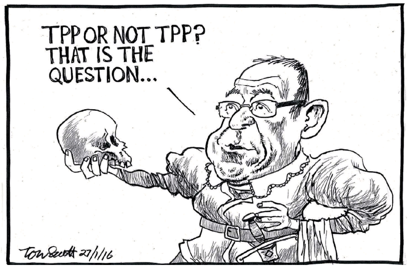Scott - Dominion Post 27 January 2016 TPP Labour Little