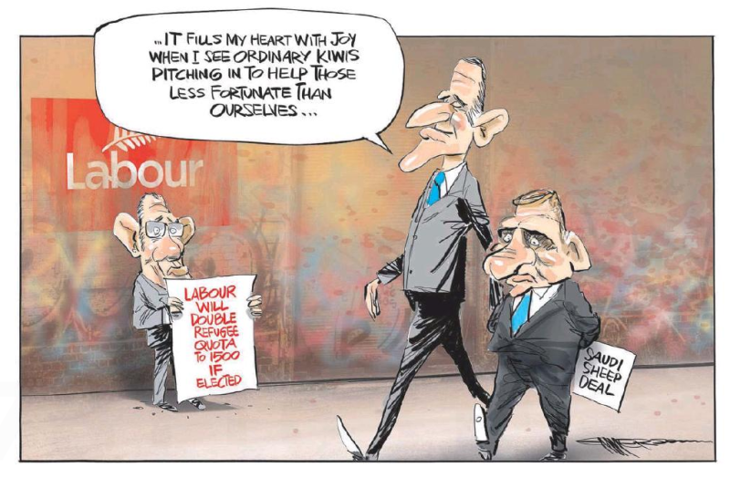 Emmerson - NZ Herald 1 April 2016 key Labour little refugees saudi sheep
