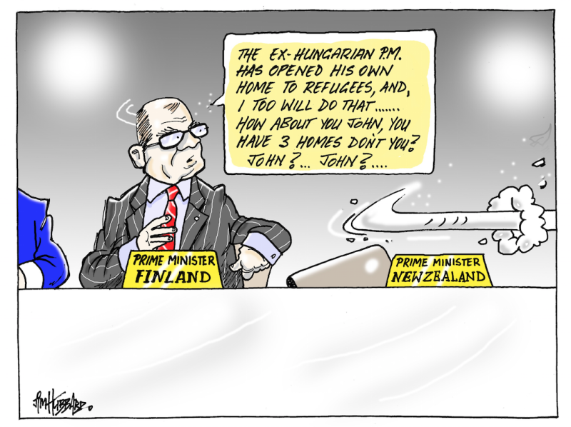 Hubbard - 12 September 2015 refugees John Key