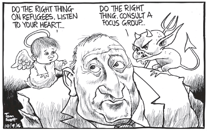 Scott - Dominion Post 10 September 2015 John Key refugees