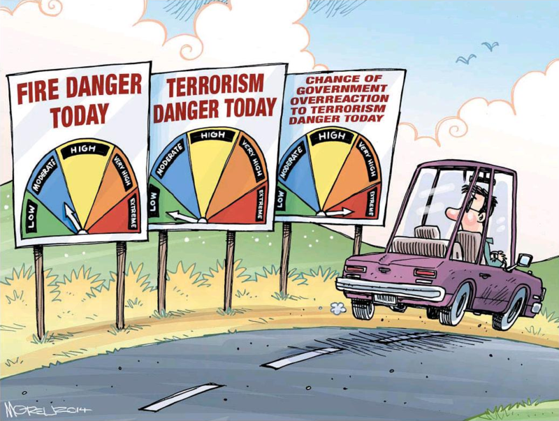 Moreu - Timaru Herald 15 October 2014 terrorism war