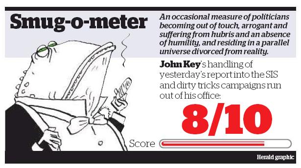 NZ Herald Smug-o-meter Dirty Politics John Key