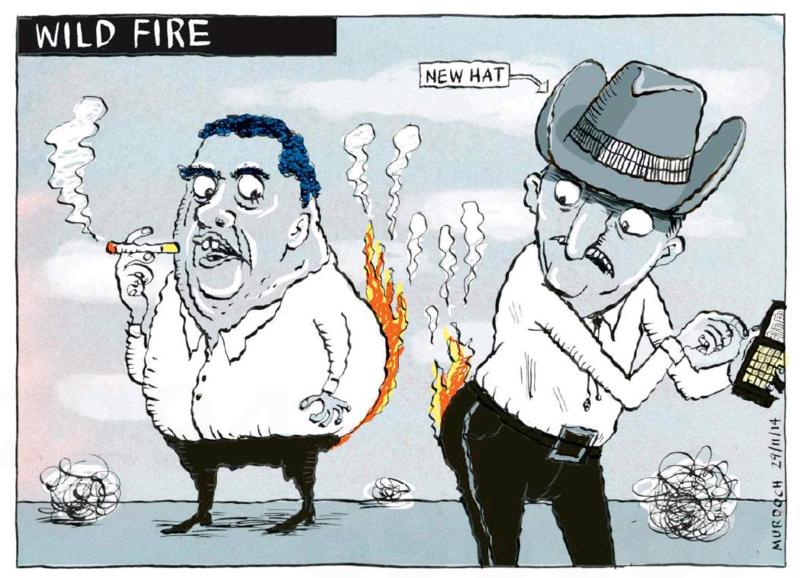 Murdoch - The Press 29 November 2014 Dirty Politics John Key Cameron Slater