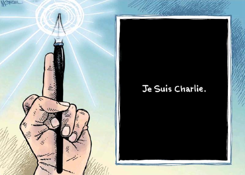 Moreu - The Press 9 January 2015 jesuischarlie