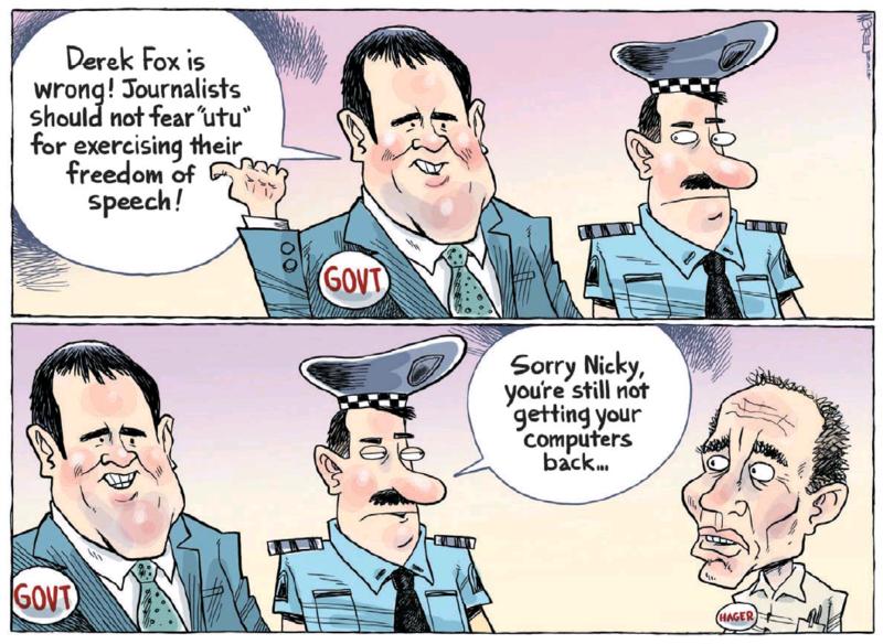 Moreu - Nelson Mail 10 January 2015 Hager Dirty politics media