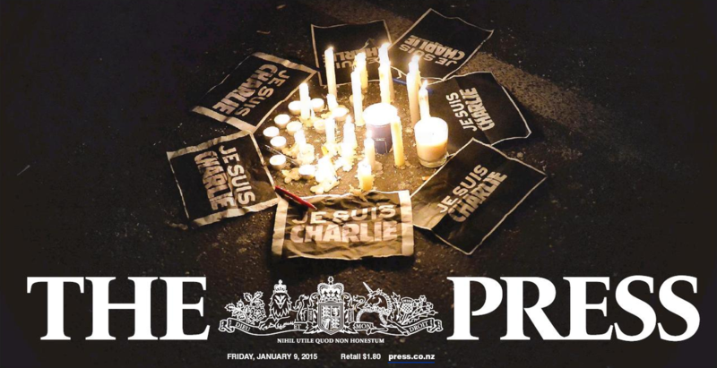 The Press masthead for jesuischarlie 9 January 2015