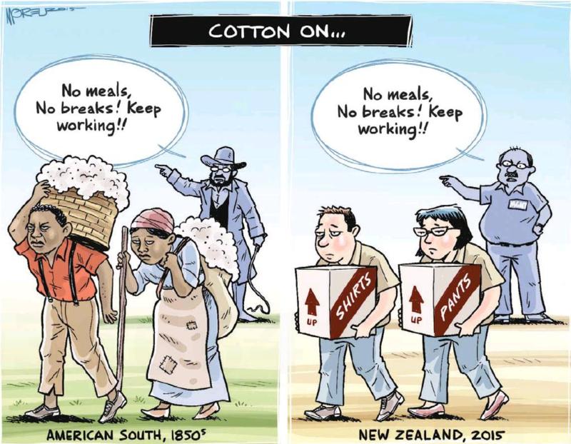 Moreu - Timaru Herald 25 March 2015 Cotton employment law labour