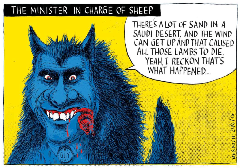 Murdoch - The Press 20 June 2015 Nathan Guy sheep Saudi