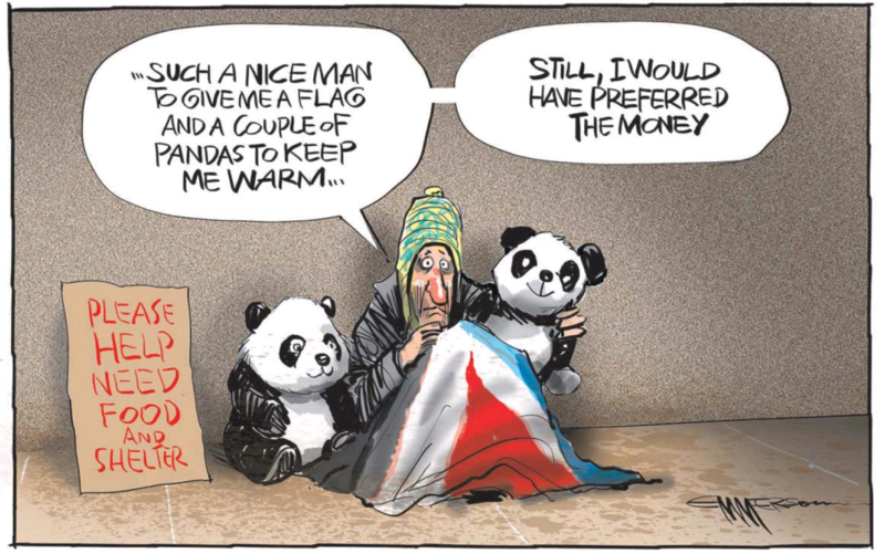 Emmerson - NZ Herald 24 September 2015 flag red peak