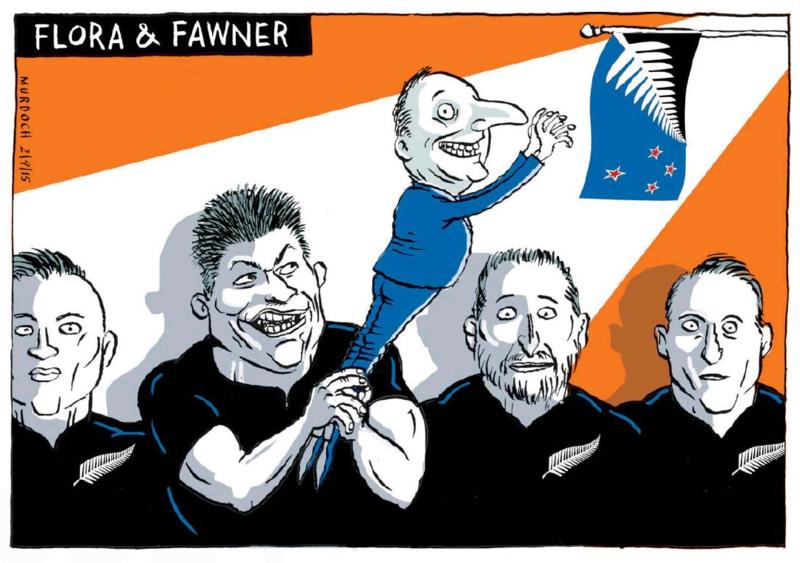 Murdoch - The Press 2 September 2015 flag all blacks key rugby