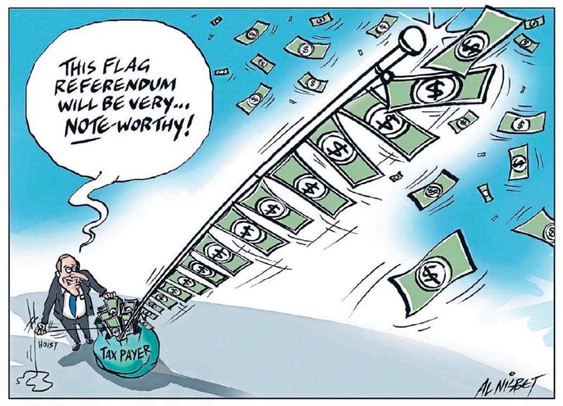 Nisbet - The Press 14 August 2015 flag key