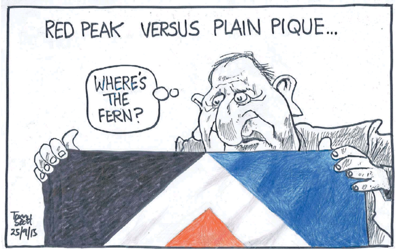 Scott - Dominion Post 25 September 2015 red peak flag