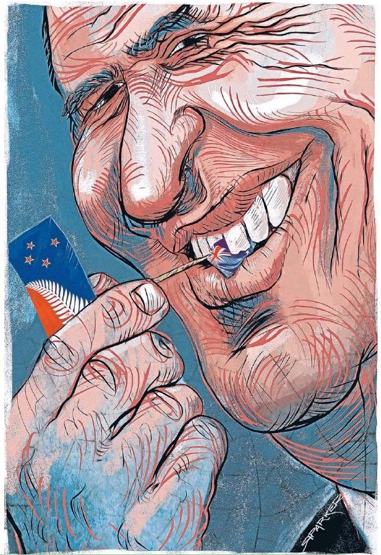 Parker - Sunday Star Times 26 October 2014 John Key flag
