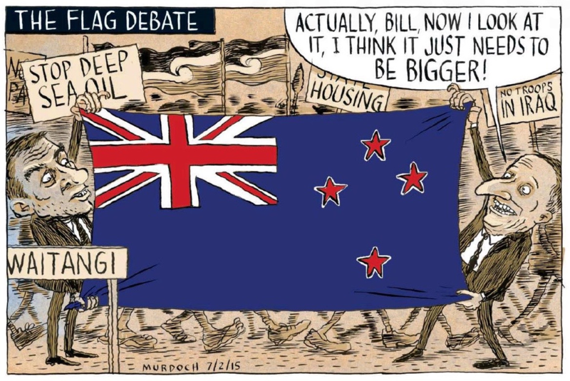 Murdoch - Sunday Star Times 8 February 2015 Flag