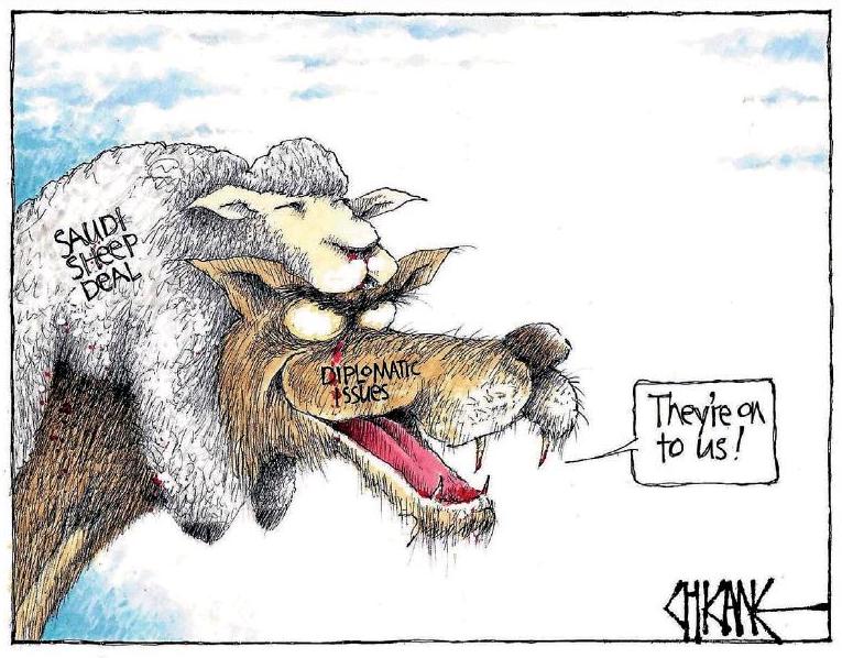 Chicane - Southland Times 3 November 2016 McCully corruption saudi sheep